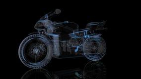 转动的摩托车 式样摩托车的黑和蓝色亮光形成360度 使成环的行动生气蓬勃的背景 皇族释放例证