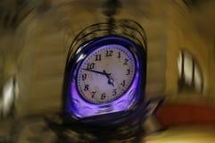 转动的时钟 免版税库存图片