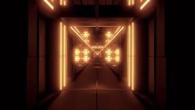 转动的空间隧道走廊vj圈不尽的3d例证 影视素材