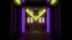 转动的空间隧道走廊vj圈不尽的3d例证 股票视频