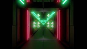 转动的空间隧道走廊vj圈不尽的3d例证 股票录像