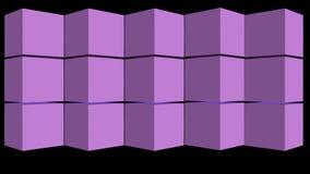 转动的箱子在黑背景改变肤色并且创造不同的样式,抽象动画,3d回报 皇族释放例证