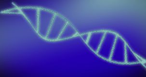 转动的脱氧核糖核酸有惯例背景 设计基因科学的概念 股票视频