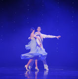 转动的舞蹈doga华尔兹这奥地利的世界舞蹈 免版税图库摄影