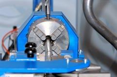 转动的车床和金属细节纺锤  免版税库存照片