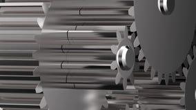 转动的金属齿轮 影视素材