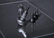 转动螺栓和板钳有橡胶把柄的 图库摄影