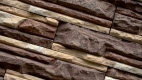 转动装饰石头 搬到花岗岩房子 石墙 影视素材
