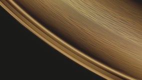 转动金黄唱片表面和它的边缘轨道凹线的A宏观射击 影视素材