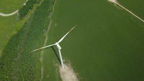 转动风的tubine,空中寄生虫英尺长度 股票视频