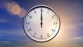 转动24个小时(圈)的时钟 向量例证