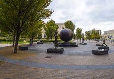 转台式广场在土尔沙-扶轮社土尔沙-土尔沙-俄克拉何马- 2017年10月17日 免版税库存图片