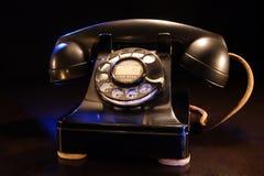 转台式电话葡萄酒 库存图片