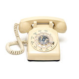 转台式的电话 库存图片