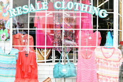 转售衣物 库存照片