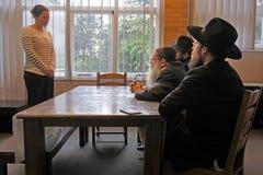 转换向由犹太犹太法学博士的法庭的犹太教 库存图片