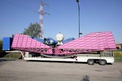 转盘卡车运输 库存照片