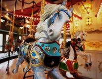 转盘圣诞节马装饰品结构树 库存图片