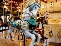 转盘圣诞节马装饰品结构树 库存照片