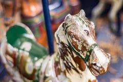 转盘圣诞节马装饰品结构树 免版税库存图片
