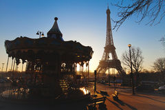 转盘巴黎 库存图片