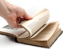 翻转页打开书 免版税图库摄影