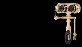 翻转鸟的机器人 免版税图库摄影