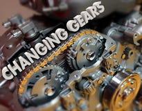转移题目汽车飞行器电动机的改变的齿轮 免版税库存图片