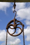 滑轮和链子做一套简单机械 库存照片
