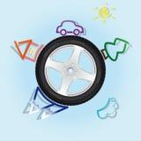 轮子世界 库存图片