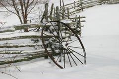 轮子冬天 免版税库存图片