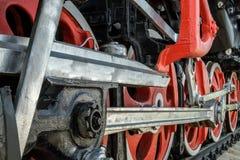 轮子和传动机构 免版税库存图片