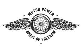 轮子和翼,自由的精神 免版税库存图片