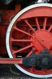 轮子和老蒸汽火车 免版税库存照片