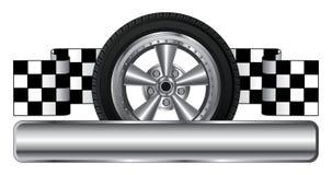 轮子商标设计 免版税库存照片