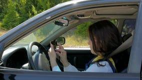 轮子的女商人,设置在导航员的座标 影视素材