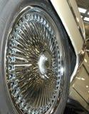 轮子的接近的盘 库存图片