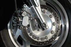 轮子的接近的motorcyle 免版税库存照片