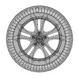 轮子的汽车概念 免版税图库摄影