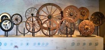 轮子的演变 轮子的历史 图库摄影