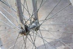 轮子自行车 库存图片