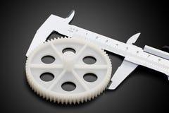 轮尺和齿轮 库存照片