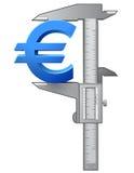 轮尺测量欧洲标志 免版税库存照片