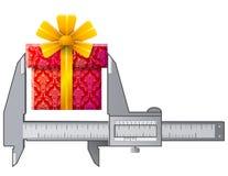 轮尺测量礼物标志 免版税库存照片