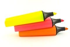 轮廓色笔。 免版税库存图片