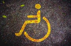 轮椅公园 库存图片