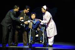 轮椅前辈-历史样式歌曲和舞蹈戏曲不可思议的魔术-淦Po 免版税库存照片