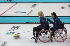 轮椅卷曲 库存图片