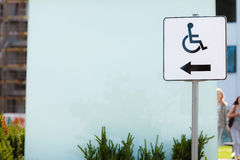 轮椅标志标志 免版税库存照片