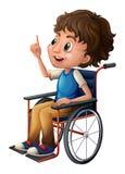 轮椅的一个人 免版税库存图片